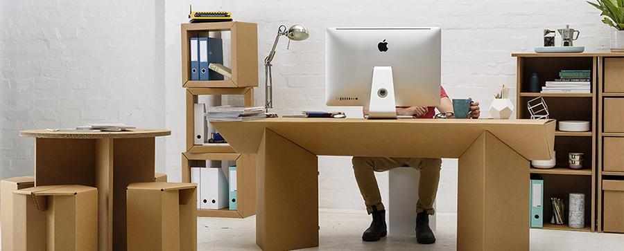 escritório-de-papelão