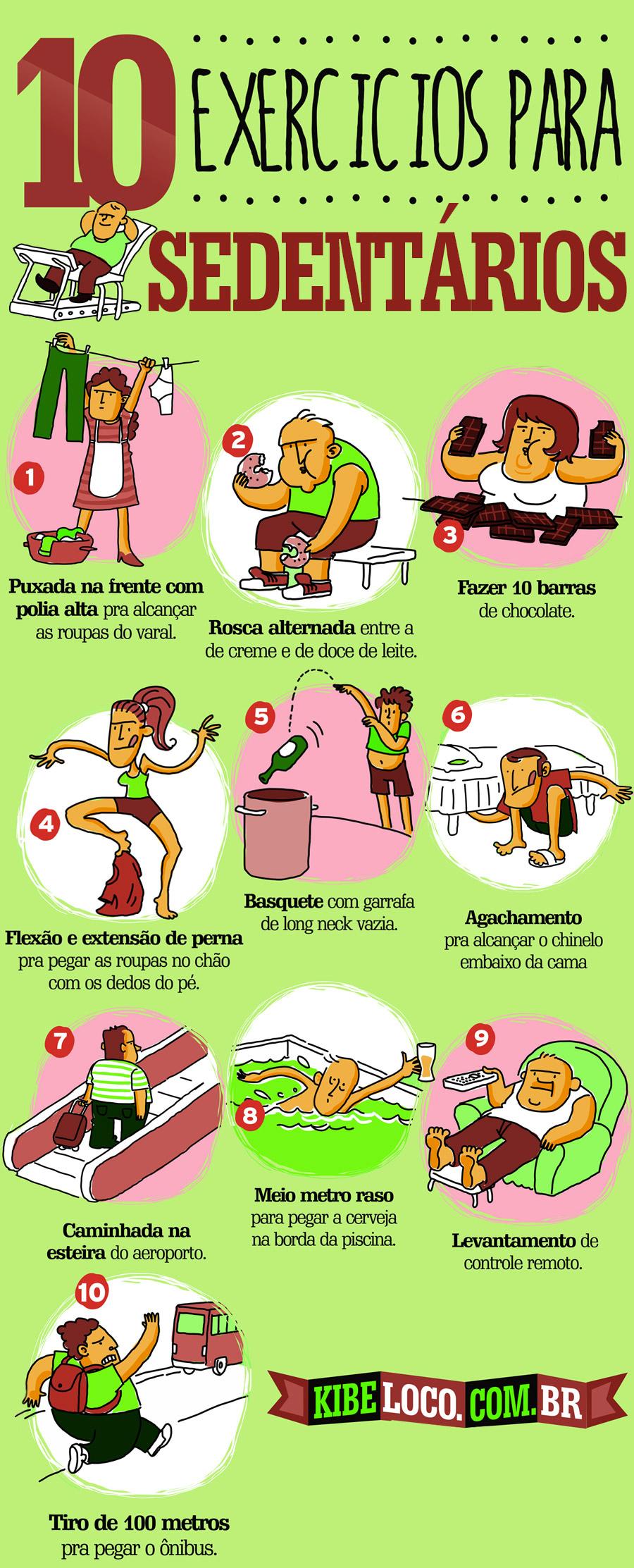 10 exercícios para sedentários. Seus amigos preguiçosos vão adorar!