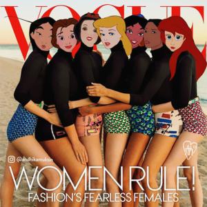 Personagens da Disney ganham corpos de artistas pelo Photoshop