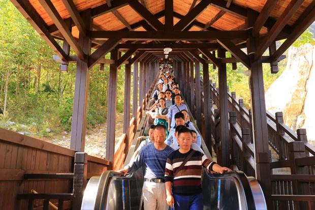 A maior escada rolante turística do mundo