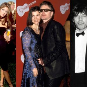 Algumas musas dos ídolos do rock