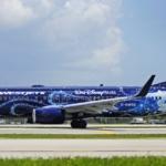 Lindas pinturas em aviões comerciais