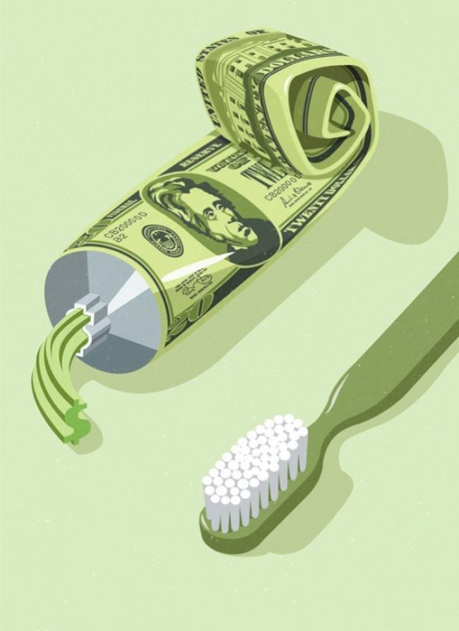 dinheiro no dente