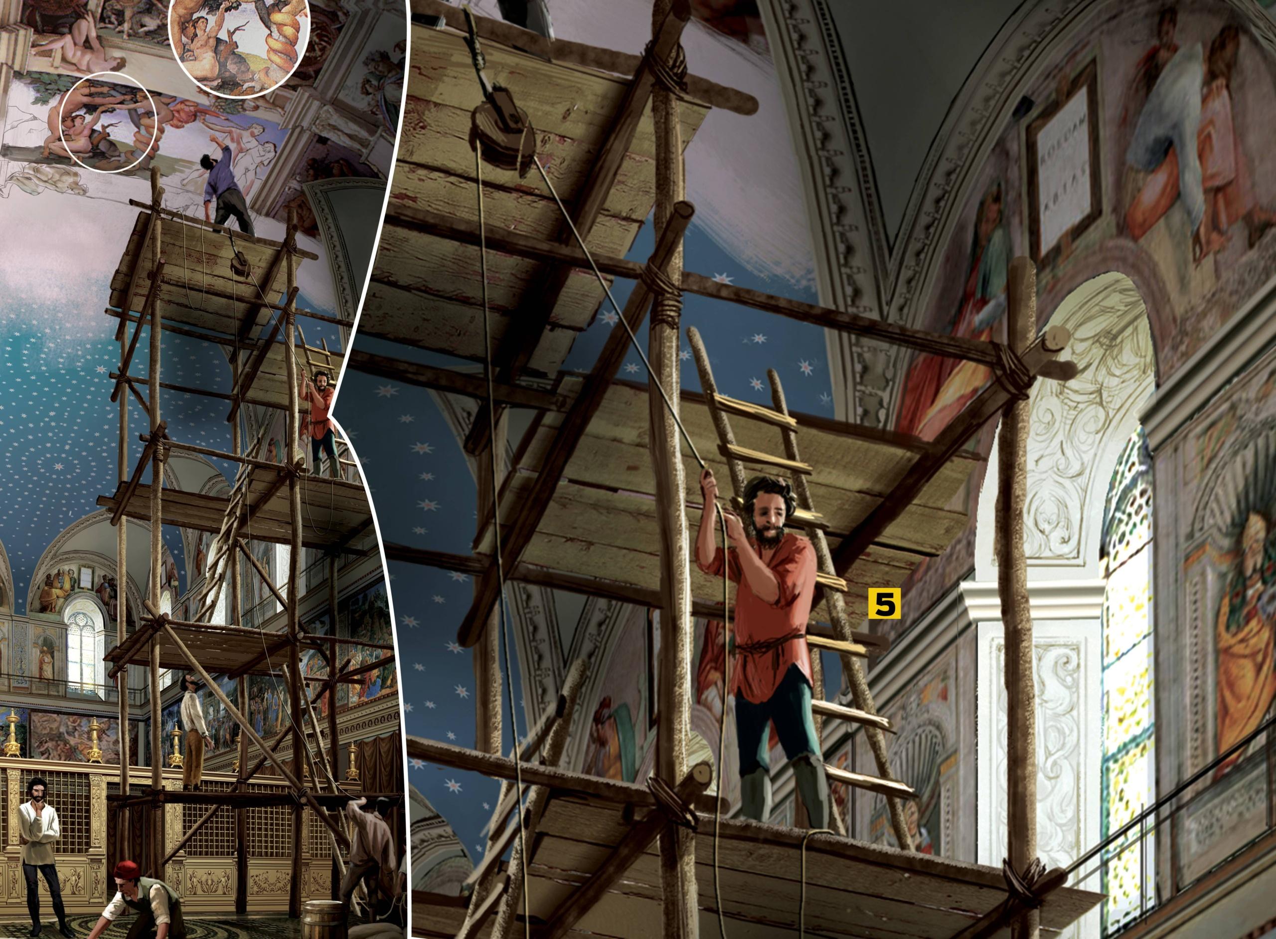 Michelangelo não queria pintar o teto da Capela Sistina mas fez um trabalho magnífico