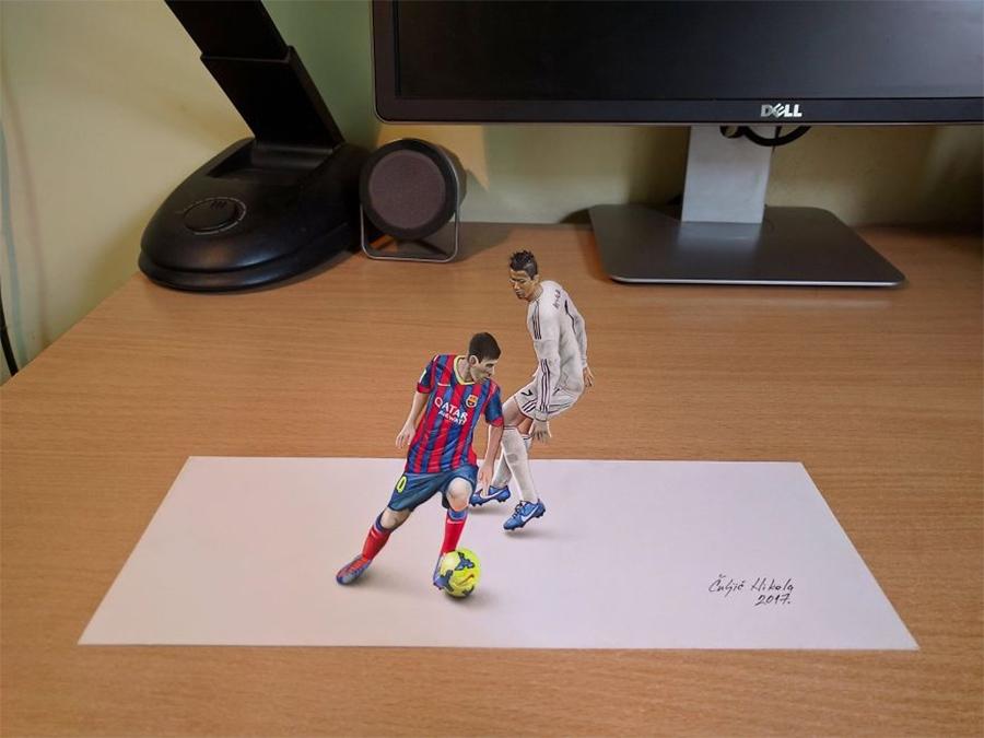Messi-e-Cristiano-Ronaldo-desenho