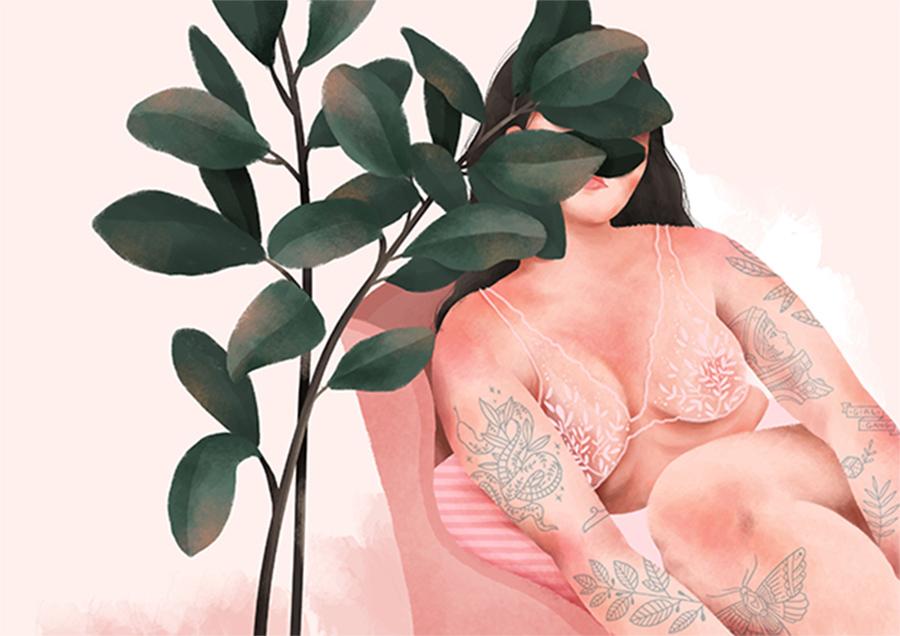 Priscila-Barbosa-ilustração-sobre-as-mulheres-e-as-plantas
