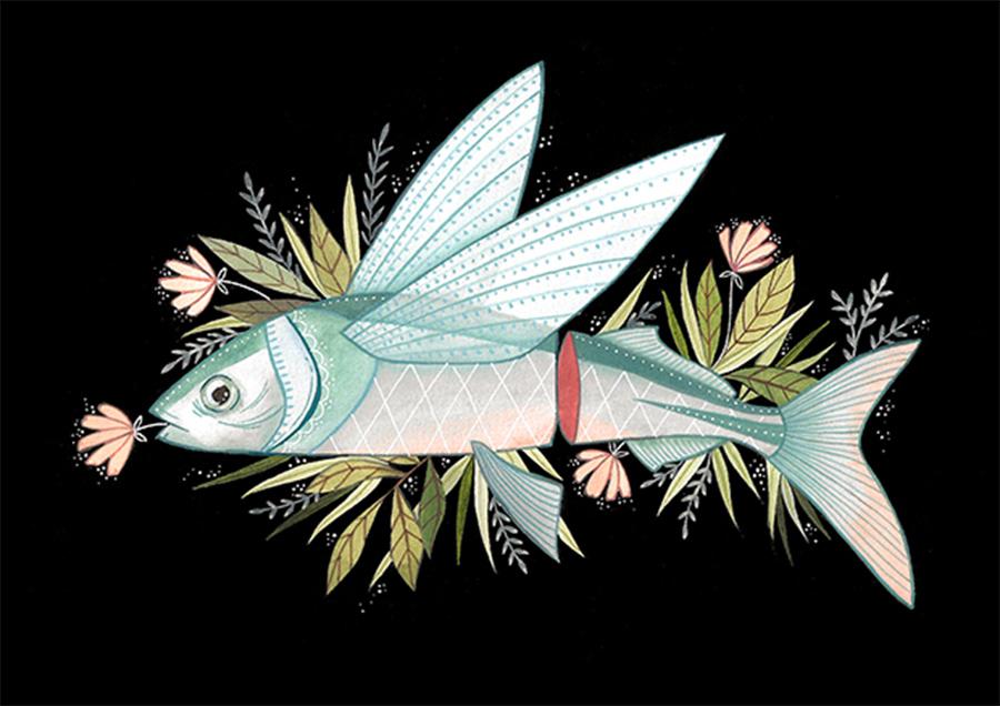 Priscila-Barbosa-ilustração-sobre-peixes-e-plantas