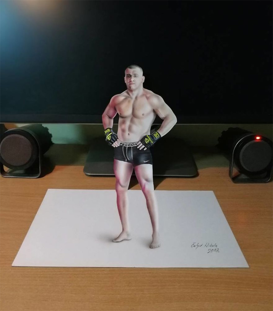 atleta-do-UFC-em-3D
