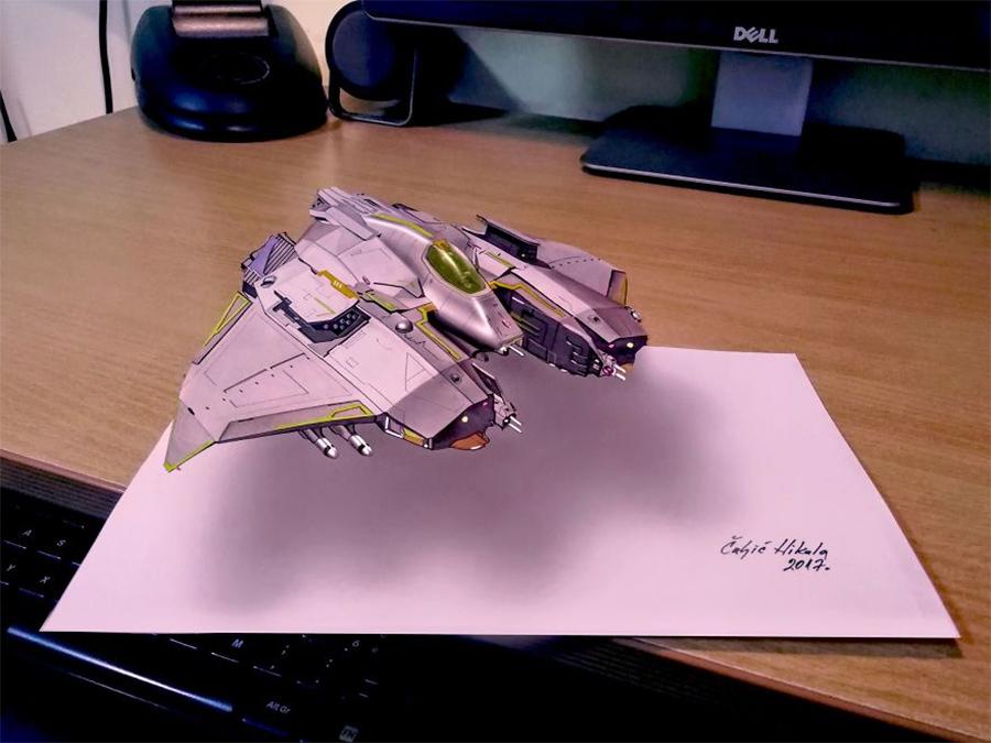 nave-espacial-em-3D