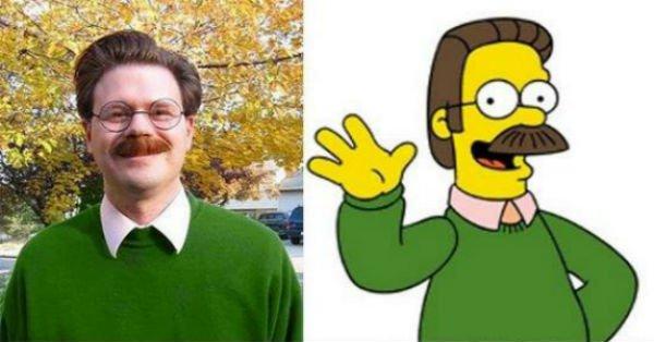 """14 pessoas que são idênticas a personagens de 'Os Simpsons"""""""