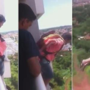 Esse brasileiro comprou um paraquedas pela internet e pulou da varanda do seu prédio. Será?