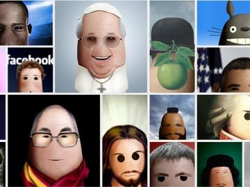 Caricaturas de grandes personalidades em polegares