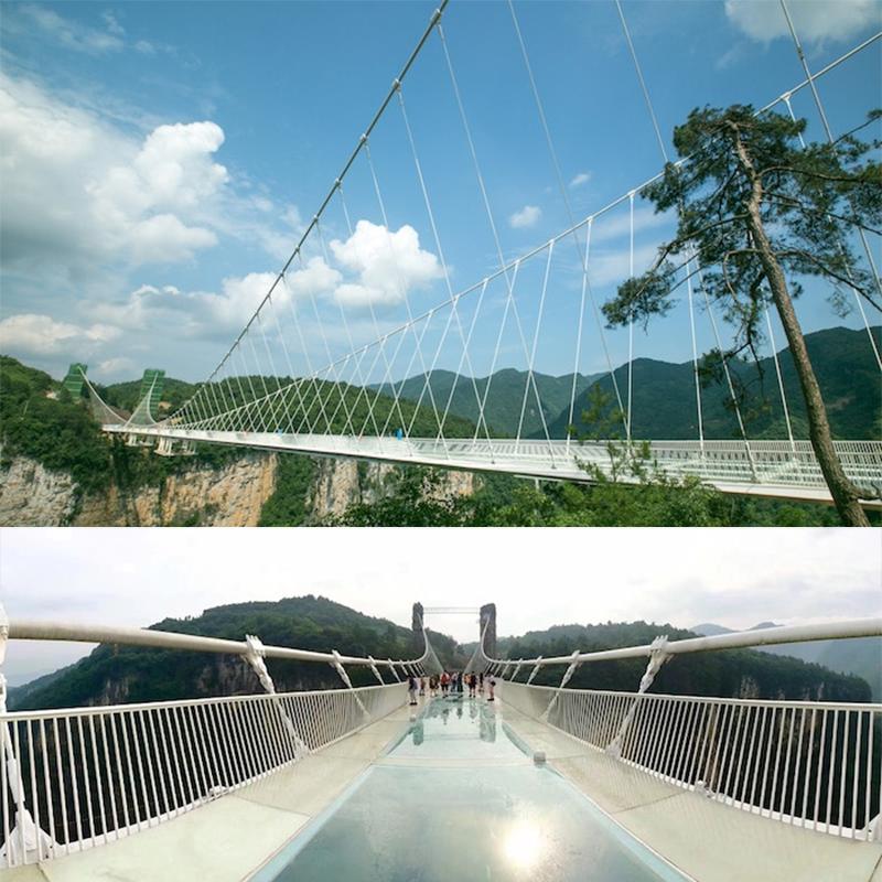 Ponte de vidro, na China
