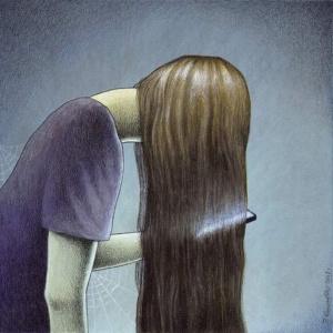 Ilustrações profundas de um artista polonês criativo