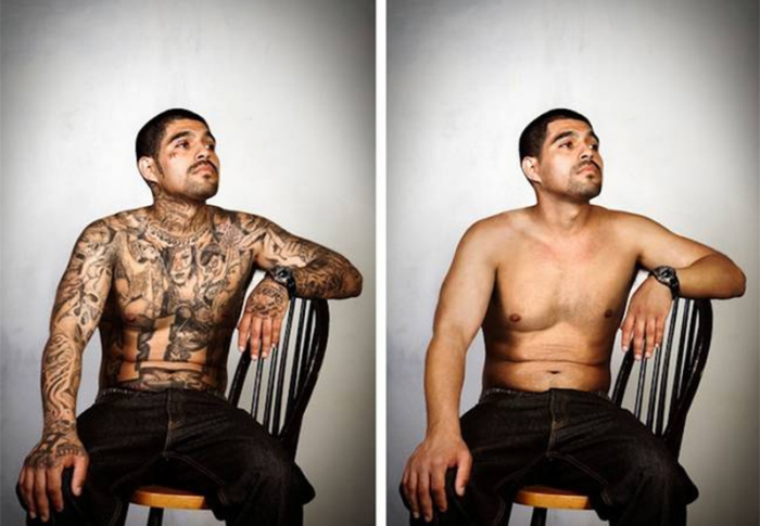 Ex-líderes de gangues podem ter tatuagens removidas em projeto