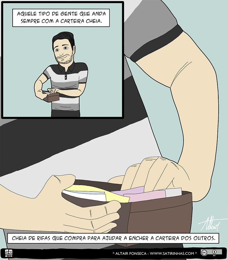 A carteira cheia e outros quadrinhos engraçados de Altair Fonseca