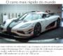 Qual é o carro mais rápido do mundo?