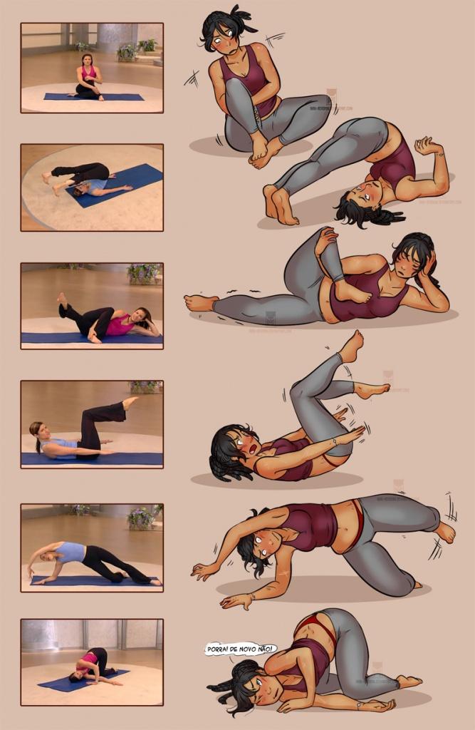 Pilates para iniciantes sem habilidades
