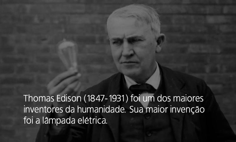 Thomas Edison, o inventor da lâmpada elétrica
