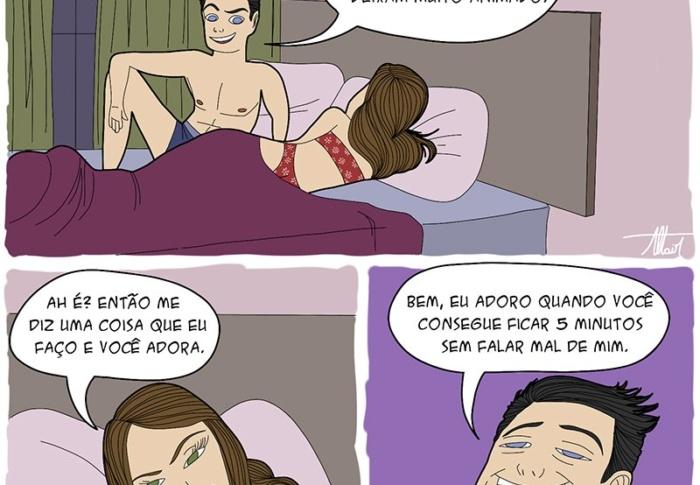Quadrinhos sensuais da Vida Dura de Armando
