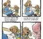 Os piores medos em quadrinhos curiosos