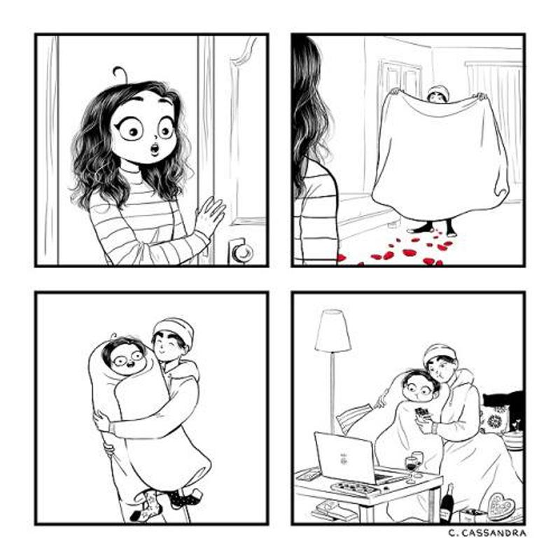 Surpreendendo uma mulher e outros quadrinhos