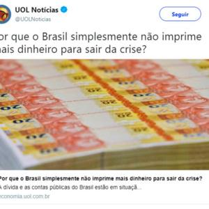 Por que o Brasil não imprime mais dinheiro?