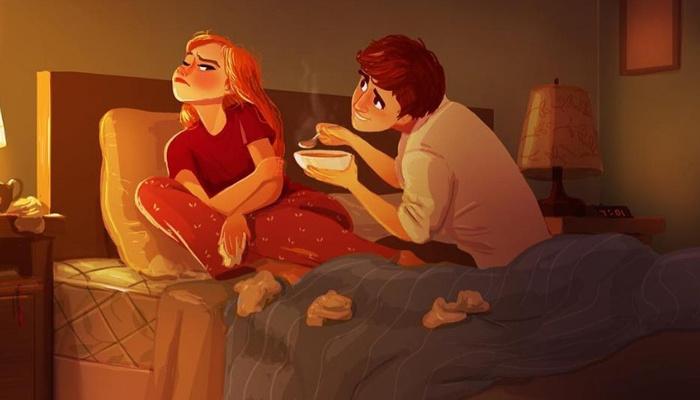 Ilustrações apaixonantes nos mostram o que é estar ao lado da pessoa amada