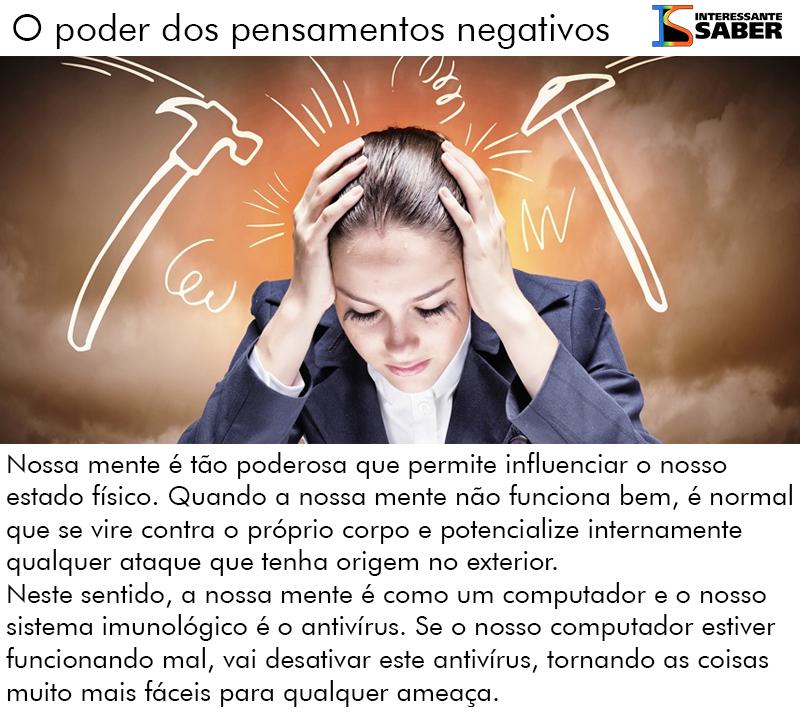 pensamentos negativos