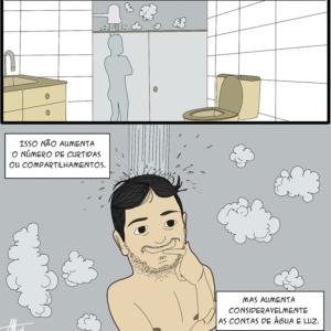 Pensamentos de chuveiro e outras análises em quadrinhos