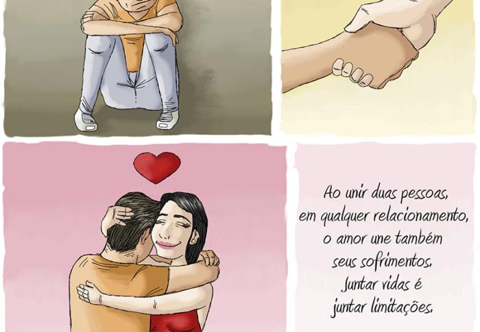A união de duas pessoas imperfeitas pelo amor