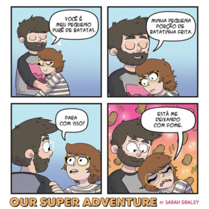 Deixando uma mulher com fome e outros quadrinhos sobre um casal divertido