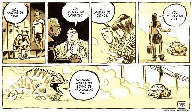 A fome por mudança retratada em quadrinhos que fazem pensar