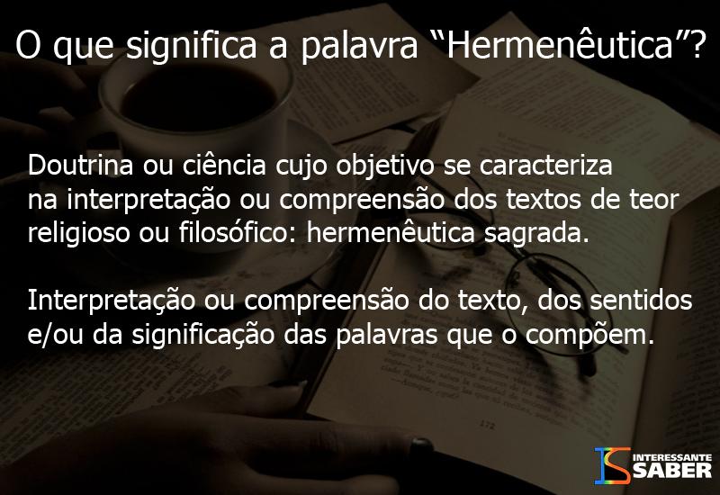 significado de hermenêutica