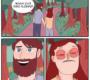 Quadrinhos sobre uma mulher sofredora