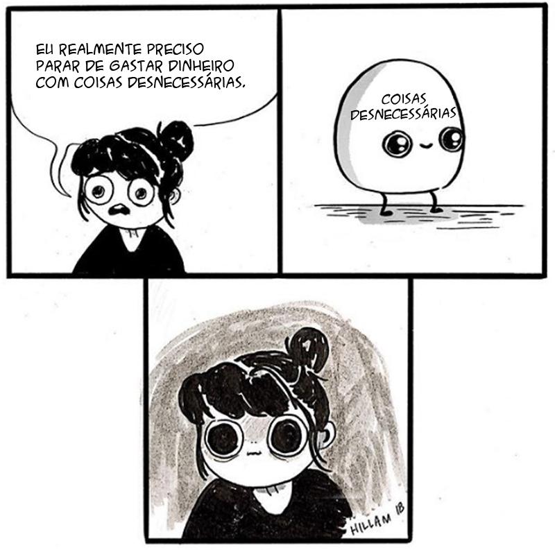 A mente inquieta de uma mulher e outros quadrinhos engraçados