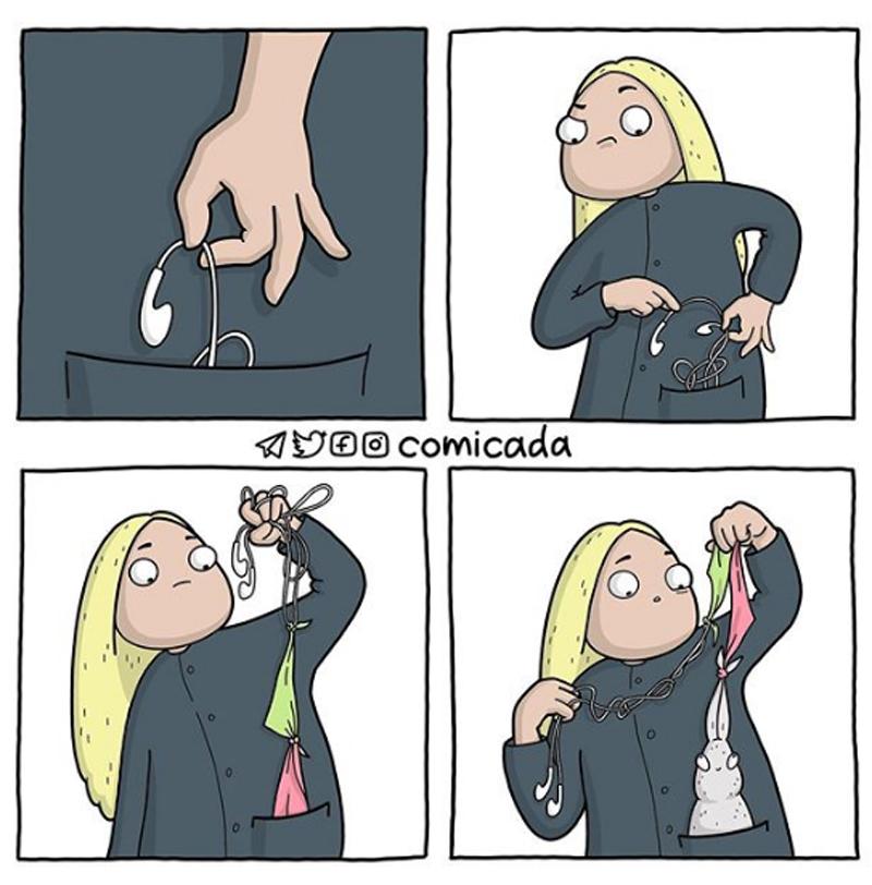 Sem nenhuma palavra, os quadrinhos do Comicada nos fazem rir