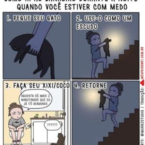 Quadrinhos para uma mulher que tem medo de ir ao banheiro