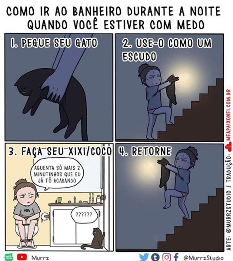 uma mulher com medo de ir ao banheiro