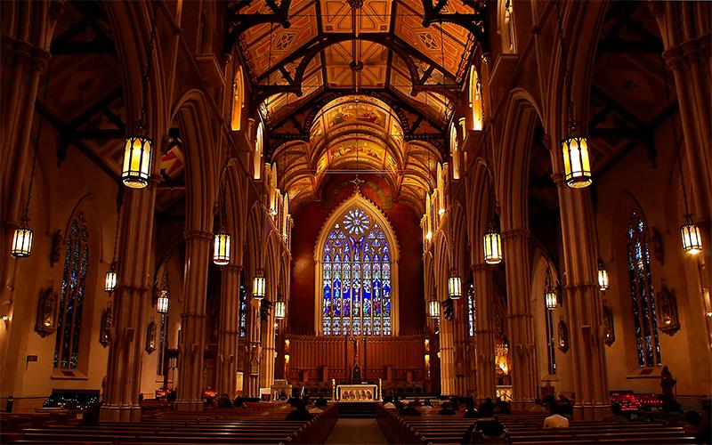 Igreja iluminada