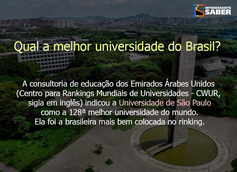 a melhor universidade do Brasil