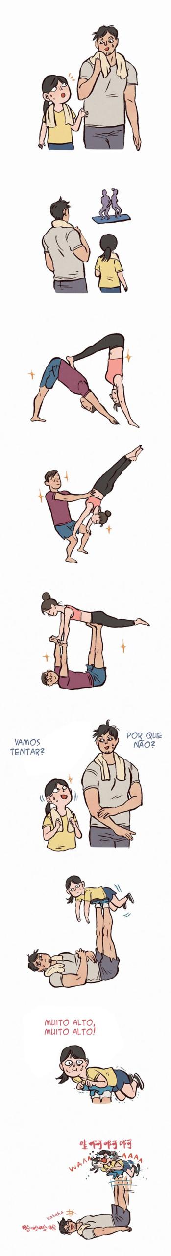 Quando um casal engraçado tenta se exercitar junto