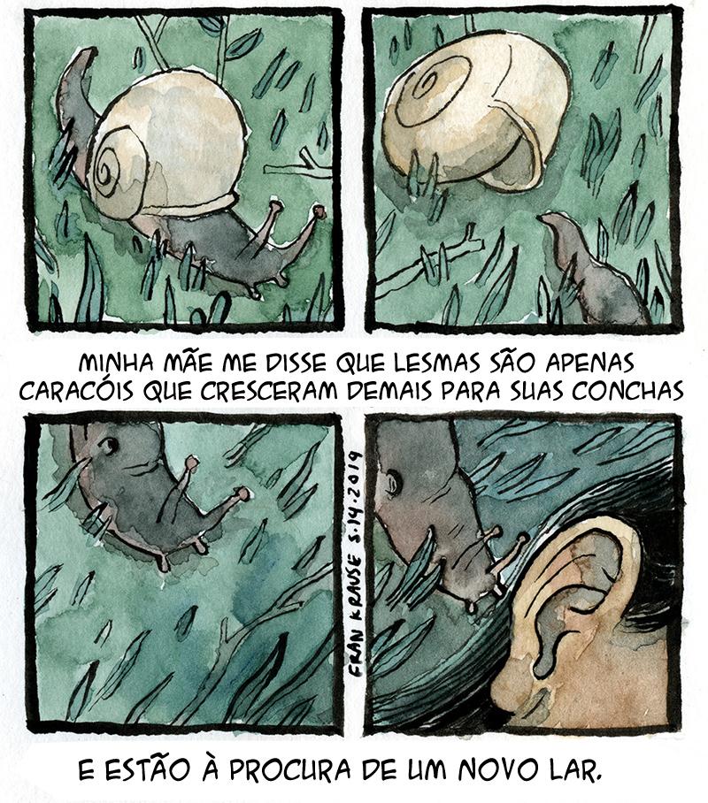 Lesmas no ouvido e outros quadrinhos sobre medos terríveis