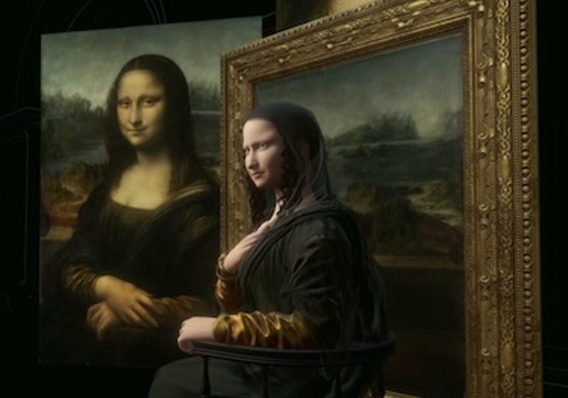 Monalisa 3D que se move é atração em homenagem a Leonardo Da Vinci