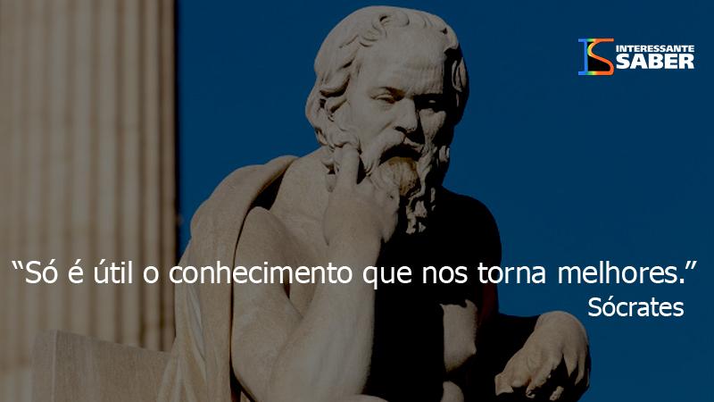 Sócrates e a busca pelo conhecimento.