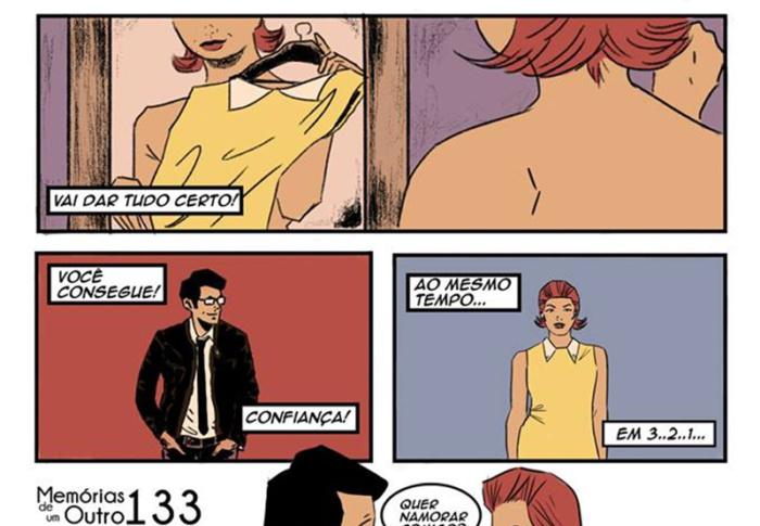 Quadrinhos que mostram decepções amorosas, reflexões e sentimentos