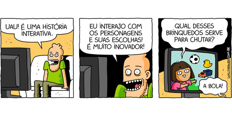 A interatividade de Dora Aventureira.