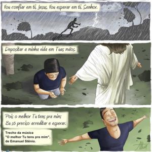 Confie em Jesus e deposite sua vida nas mãos Dele