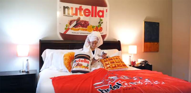 Um sonho para os amantes de Nutella.
