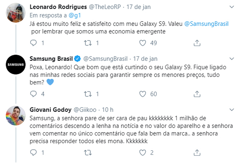 Samsung tentando ser legal.